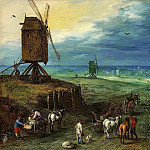 Landscape with a Mill, Jan Brueghel The Elder