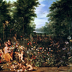 Flora in the Flower Garden, Jan Brueghel The Elder
