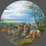 Jan Brueghel The Elder - A Landscape With Travellers