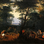 Deer Hunt, Jan Brueghel The Elder