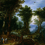 Jan Brueghel The Elder - Wooded Landscape with Abraham and Isaac