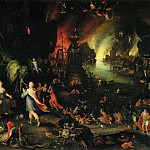 Jan Brueghel The Elder - Orpheus Sings before Pluto and Proserpine in the Underworld
