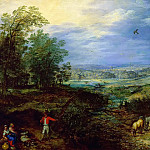 Jan Brueghel The Elder - Landscape with Peasants