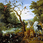 Jan Brueghel The Elder - The Entry of the Animals into Noahs Ark