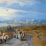 Jan Brueghel The Elder - Landscape with travelers