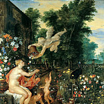 Jan Brueghel The Elder - Flora and Zephyr