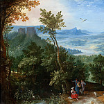 Jan Brueghel The Elder - View over a Broad River Valley with Gypsies