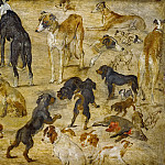 Studies of Dogs, Jan Brueghel The Elder