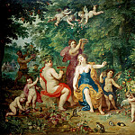 Landscape with Venus, Bacchus and Ceres, Jan Brueghel The Elder