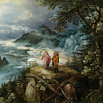 Jan Brueghel The Elder - Mountain Landscape with the temptation of Christ