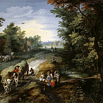 Jan Brueghel The Elder - Road in the Environs of a City