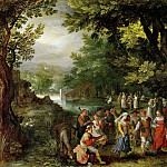 Jan Brueghel The Elder - Outdoor Wedding Party