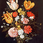 Vase of Flowers with Ring and Diamonds