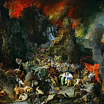 Jan Brueghel The Elder - Aeneas and the Sibyl in Hades