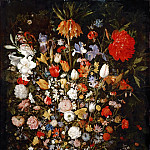 Flowers in a Wooden Vessel, Jan Brueghel The Elder