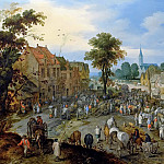 Cattle market in the village, Jan Brueghel The Elder