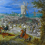 Battle near two mills, Jan Brueghel The Elder