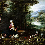 Jan Brueghel The Elder - Wood landscape with rest on the flight to Egypt