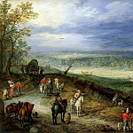 Landscape With Travellers, Jan Brueghel The Elder