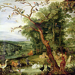 Jan Brueghel The Elder - The Garden of Eden with fall of man