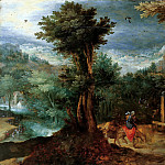Jan Brueghel The Elder - Flight into Egypt (attr.)