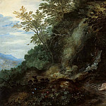 Jan Brueghel The Elder - Landscape with Mary Magdalene