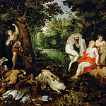 Jan Brueghel The Elder - Diana resting after the hunt
