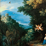The Rest on the Flight into Egypt with the Tivoli Temple, Jan Brueghel The Elder