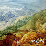 Jan Brueghel The Elder - Mountain landscape