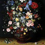 Flowers In A Vase, Jan Brueghel The Elder