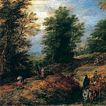 Landscape with Travelers on a Woodland Path, Jan Brueghel The Elder