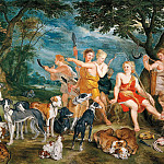 Jan Brueghel The Elder - Diana and her nymphs departing for the hunt