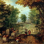 Jan Brueghel the Younger - Landscape with a Ford