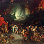 Jan Brueghel The Elder - Aeneas and the Cumaean Sibyl in the Underworld
