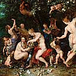 Nymphs Filling the Cornucopia, Jan Brueghel The Elder