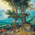 Road to the Market, Jan Brueghel The Elder