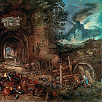 Venus in the Forge of Vulcan, Jan Brueghel The Elder