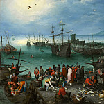 Jan Brueghel The Elder - Harbor Scene with St. Paul