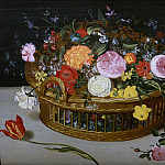 Jan Brueghel The Elder - Basket with flowers