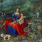 Jan Brueghel The Elder - Madonna and Child among animals