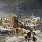 Paisaje nevado , Jan Brueghel The Elder