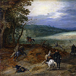 The attack on travelers, Jan Brueghel The Elder