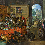 Jan Brueghel The Elder - Vanity - The Feast of the Monkeys