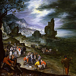 Jan Brueghel The Elder - Coastal Landscape with Sacrifice of Jonah
