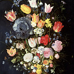 Jan Brueghel The Elder - A Stoneware Vase of Flowers