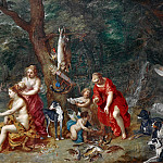 Jan Brueghel The Elder - Diana and her Nymphs after the Hunt