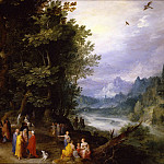 Jan Brueghel The Elder - John the Baptist in the Wilderness