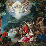 Jan Brueghel The Elder - The baptism of Christ in the river Jordan