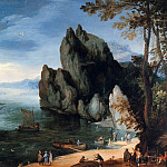 Jan Brueghel The Elder - Bay with warship