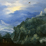 Jan Brueghel The Elder - Mountainous Landscape with a River